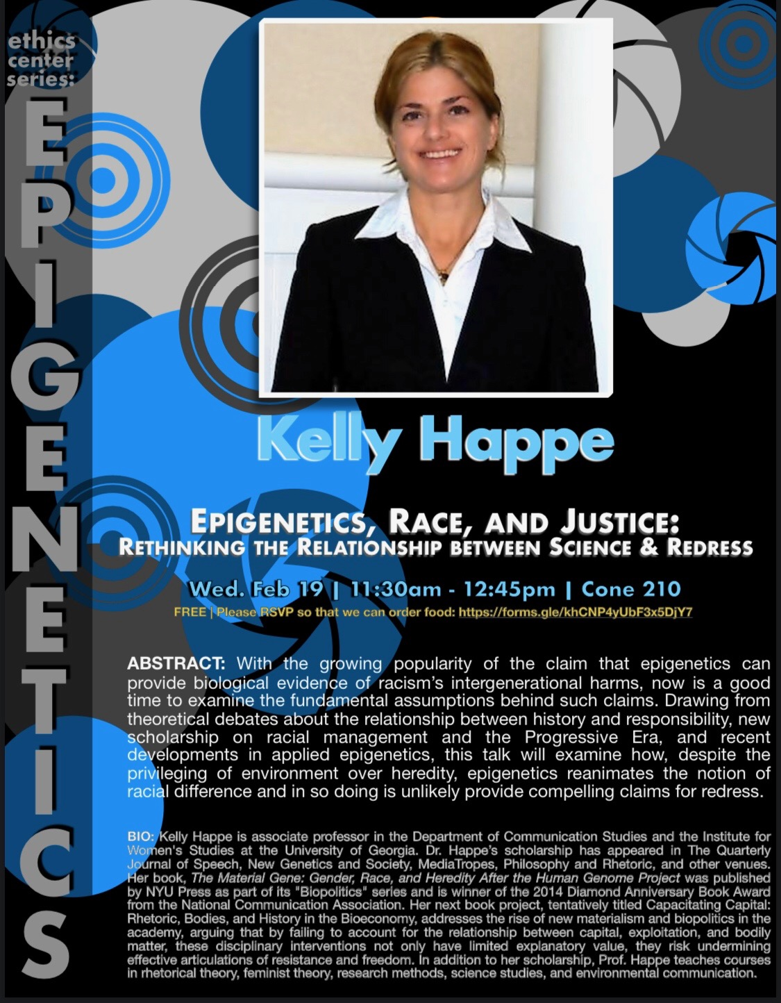 "Kelly Happe: ""Epigenetics, Race, and Justice"""