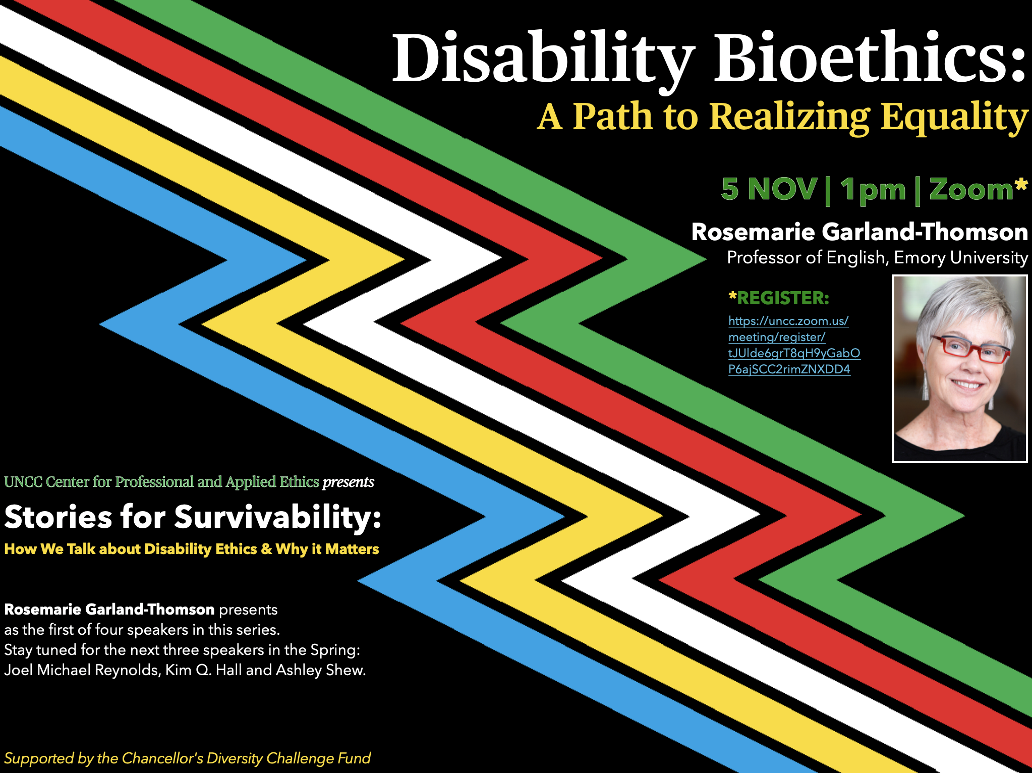 "Rosemarie Garland-Thomson: ""Disability Bioethics:  A Path to Realizing Equality"""