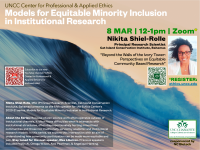 """Nikita Shiel-Rolle, """"Beyond the Walls of the Ivory Tower: Perspectives on Equitable Community Based Research"""""""