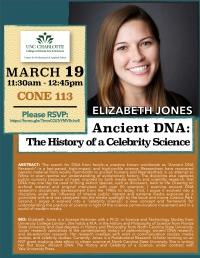 ***POSTPONED*** Elizabeth Jones: Ancient DNA